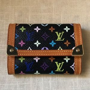 Louis Vuitton Multicolor Monogram Flap Card Holder